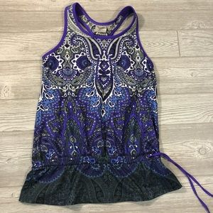 Athleta • Paisley Workout Tank with Built in Bra